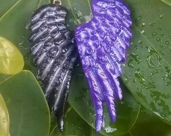 Angel wings/ handmade earrings /Polymer Clay/Fantasy