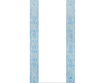 Blue wood mirror 40x120 african hanging wooden mirror african wall wooden mirror full length carving mirror full length moroccan mirror
