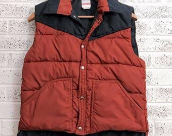 Vintage Ski Vest, Retro Puffer Vest, Eighties