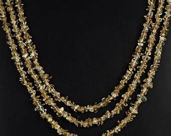Natural Citrine Chip Necklaces