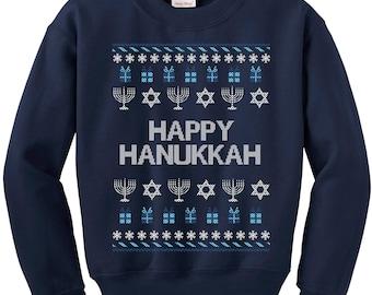 Hannukah, Hanukkah Ugly Sweater, Chanukah Sweater, Happy Hannukah, Hannukah Sweatshirt, Jewish Holiday, Ugly Sweater, Hannukah Jumper
