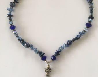 Blue Moon Goddess Necklace