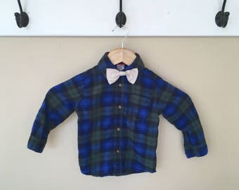 24 Month Elbow Patch Long Sleeve Button Down + Bow Tie