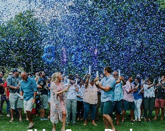 Gender Reveal Confetti Cannon for Gender Reveal Parties | Alternative to Gender Reveal Smoke and Baseballs - FAST SHIPPING!