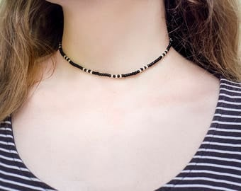 Dainty Choker Trending now Beaded Choker Necklace Casual Jewelry Dainty Necklace Gift under 10 Gift for Friend Beaded Necklace Thin Choker