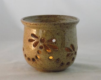 Votive-Small Ceramic Candle Holder-Pottery Candle Bowl-Elizabeth Gebert-Cottonwood Creek-Home Decoration