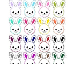 80% OFF SALE 50 Commercial use clipart Easter bunny clipart, Bunny clip art, Bunnies clipart, Bunny faces clipart, Bunny vector image  KG5