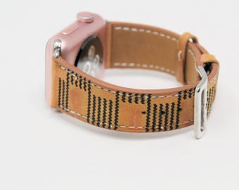 Personalized Apple Watch Band, Designer LV Inspired Apple Watch Band 38mm, Apple Watch Band 42mm, Initial iWatch Band, iWatch Strap Leather