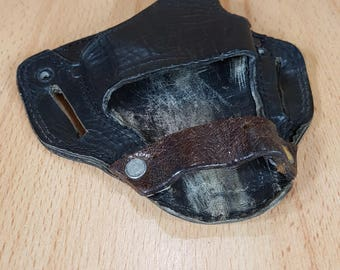 Holster for gun - Gun bag - Bag - Leather pistol bag.