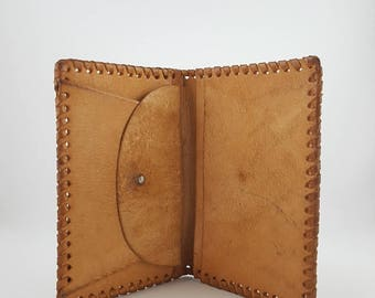 Leather wallet -  Leather purse - Purse for money - Money bag - Bag for documents - Leather - Handmade.