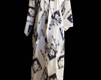 Vintage Japanese Kimono 100% Cotton