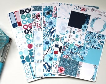 Winter Floral - Erin Condren Vertical Weekly Kit