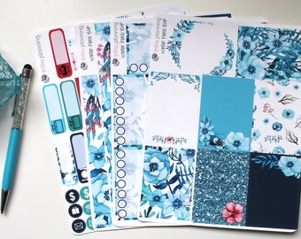 Winter Floral - Big Happy Planner Weekly Kit