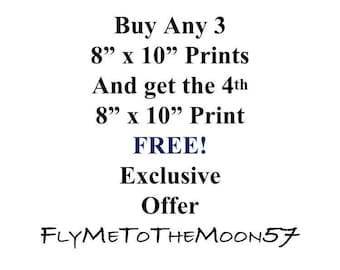"Purchase Any 3 ~ 8""x10"" Prints and get the 4th 8""x10"" Print FREE ~ You Choose"