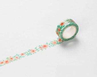 Washi Tape o Masking Tape decorato fantasia Floreale