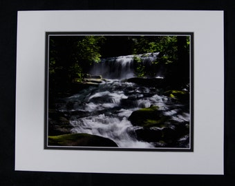 Prospect Mountain Water Fall  matted (11x14) photo (8x10)