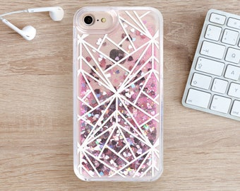 Geometry Glitter iPhone 8 Case iPhone 7 Case iPhone 8 Plus iPhone 6S Case 7 Plus iPhone 5 Case iPhone Case iPhone 6 Case iPhone SE YZ1103