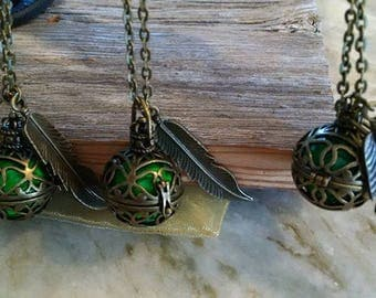 essential oil cage necklace