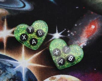 Xbox Gamer Glitter Heart Pin