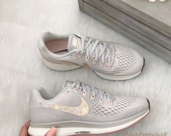 ... discount bling nike air zoom pegasus 34 with rose gold swarovski  crystals c733d 0bc13 ... 20ef90c9818d