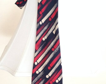 Vintage Lanvin Men's Necktie|Men's Geometric Tie