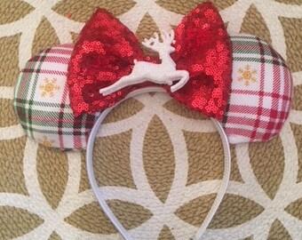 Reindeer Christmas Minnie Ears, Minnie Mouse Ears, Minnie Ears, Mickey Ears, Disney Ears, Christmas Mickey Ears, Disney Christmas, disney