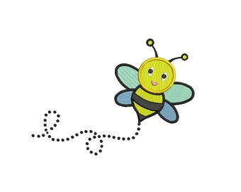 Bee Embroidery Design - 4 sizes instant download