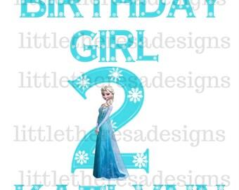 Elsa Birthday Girl Transfer, Mom of the Birthday Girl,Dad of the Birthday Girl,Digital Transfer,Digital Iron On,Diy