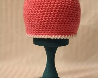 light pink simple hat 12-24 months