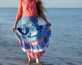 Maxi skirt Tenderness of the sea