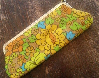 VINTAGE Optical Fashion by Rosanne flower power eyeglass sunglass mod case