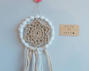 "Shabby Chic Doily Dream Catcher - 6"" - LifeByMadi"