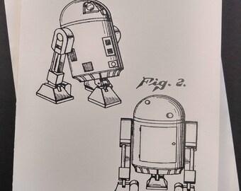 Star Wars R2D2 Greeting Card