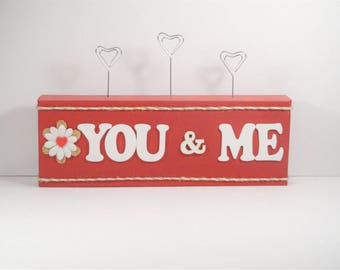 You & Me with Photo Clips - Great gift for that someone special in your life!  Customizable and 3 Photo clip styles available!