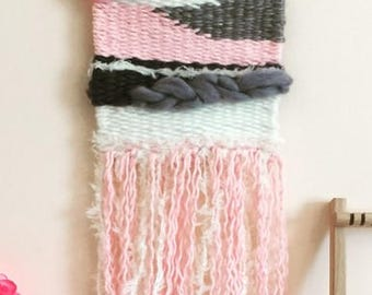 Kit DIY (do-it-yourself) weaving wall (yarn, wool and detailed tutorial)