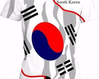 South Korea Ladies Flag Tee