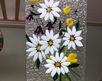 Fused Glass Floral Windchime