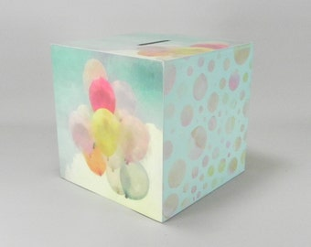 Up, Up and Away .........  Individual and unique, wooden money boxes for adults @ Emma's Letters xxx