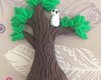 Owl and Tree Magnet