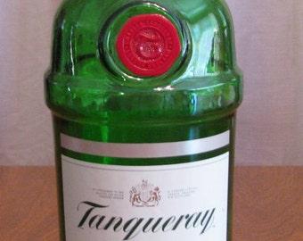 Tanqueray Gin empty 1 Liter bottle, bottle crafts, liquor bottle for DIY projects, empty liquor bottle, bottle for craft projects