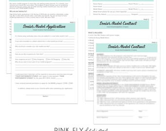 Senior Model Application and Contract Forms | Business Forms | Photography Forms | Form Templates