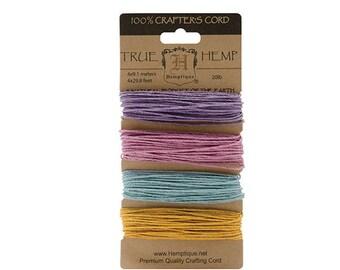 Hemptique Cord Card 20-Pound, Pastel
