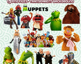 Muppets Clipart, Muppets PNG, Miss Piggy PNG, Muppets Files, Instant Download 107