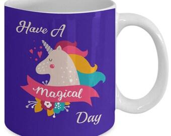 Unicorn coffee mug, unicorn lover gift, hot chocolate mug, 11, 15 oz