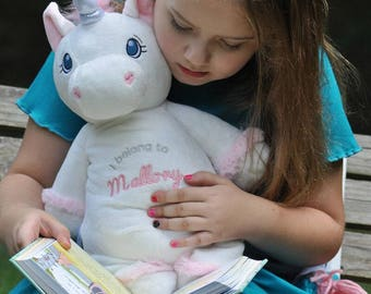 Personalized Baby Cubbies, Custom Embroidered Unicorn Stuffed Animal for Kids