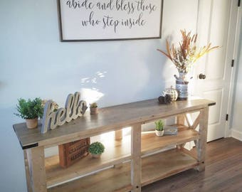 Rustic Sofa Table / Entertainment Center