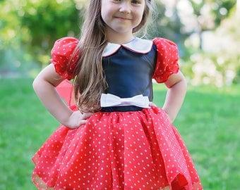 Minnie Mouse Costume / Disney Inspired  Dress - Kids, Girls, Toddler, Child