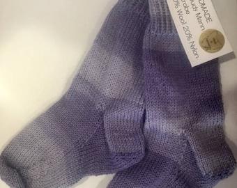 Kids Knitted Wool Socks Children socks Handmade in Tasmania Australia Warm Children's Socks Stripes Ombre Kids Socks