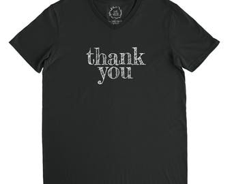 Thank You - V-Neck Tee