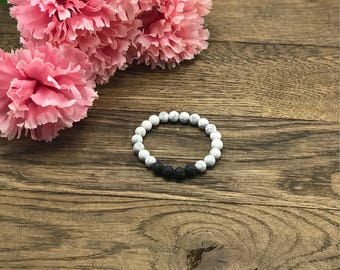 Mothers Day Gift, Howlite Bracelet, Mothers Day Jewelry, Lava Bead Bracelet, Mothers Day, Diffuser Bracelet, Lava Diffuser Bracelet